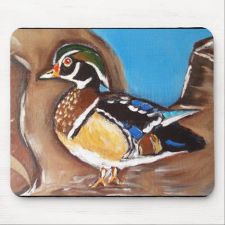 WOOD DUCK MOUSE PAD