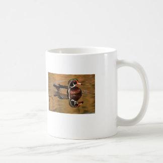 Wood Duck on Golden Lake Coffee Mug