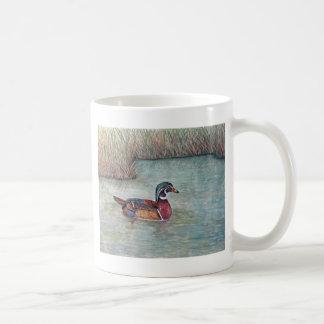 wood duck painting classic white coffee mug