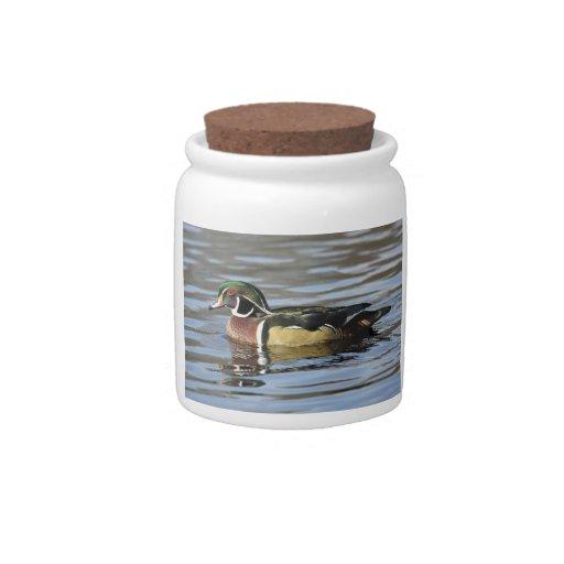 Wood Duck Photograph Candy Jar