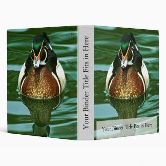 Wood Duck Vinyl Binder