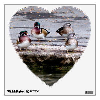 Wood Ducks Birds Wall Decal