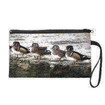 Wood Ducks Birds Wildlife Animals Pond Bag