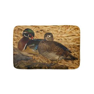 Wood Ducks on a Log Bathroom Mat