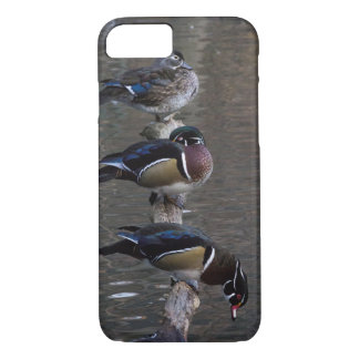 Wood Ducks on Branch iPhone 8/7 Case