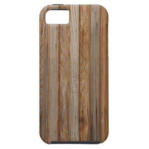 Wood effect iPhone 5 case with Text