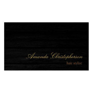 Wood Effect Script Hair Stylist Business Card