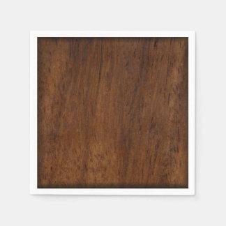 Wood Elegant Dark Wooden Texture Paper Napkin