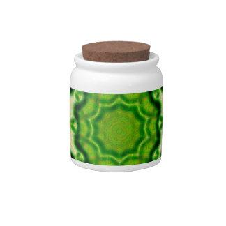 WOOD Element kaleido pattern Candy Jar
