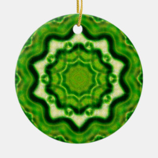 WOOD Element kaleido pattern Ceramic Ornament