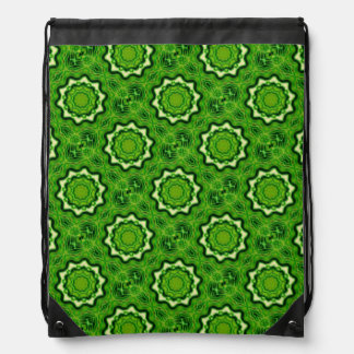 WOOD Element kaleido pattern Drawstring Bag