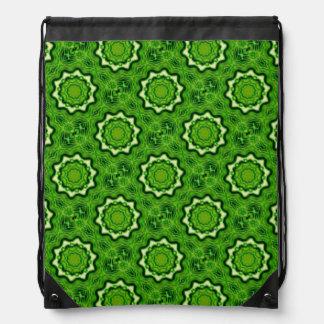WOOD Element kaleido pattern Drawstring Bags