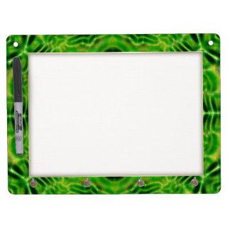 WOOD Element kaleido pattern Dry Erase Board With Keychain Holder