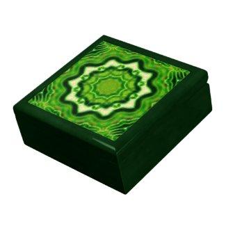 WOOD Element kaleido pattern Jewelry Box