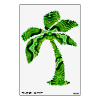 WOOD Element palm tree wall decal