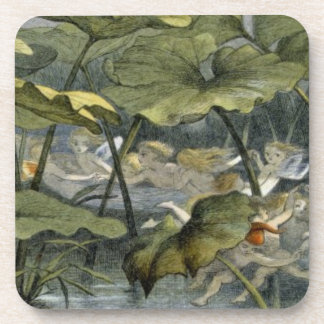 Wood Elves at Play, illustration from 'In Fairylan Drink Coaster