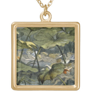Wood Elves at Play, illustration from 'In Fairylan Gold Plated Necklace