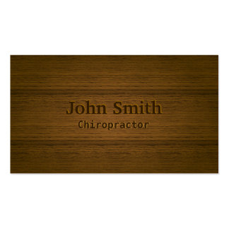Wood Embossing Chiropractor Business Card