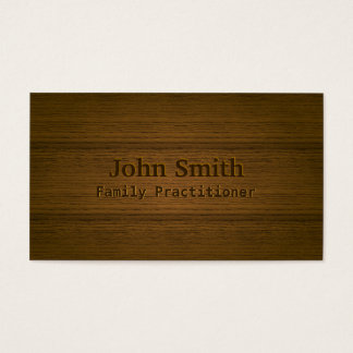 Wood Embossing Family Practitioner Business Card