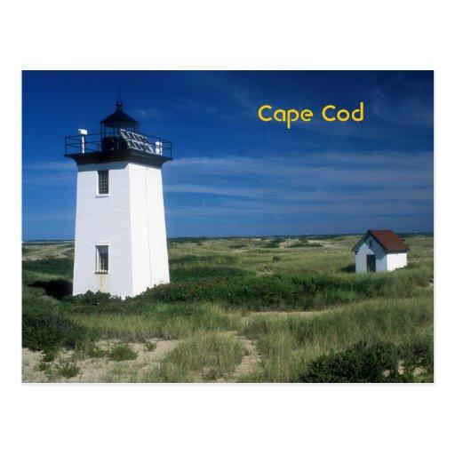 Wood End Lighthouse Cape Cod Postcard