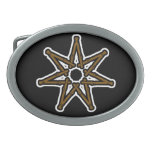 Wood fairy star oval belt buckles
