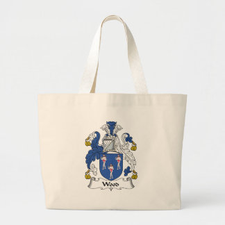 Wood Family Crest Tote Bags