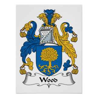 Wood Family Crest Poster