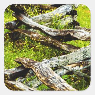 Wood_Fence.JPG Square Sticker