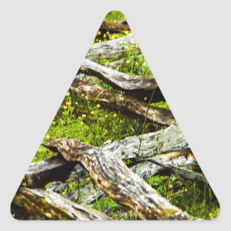 Wood_Fence.JPG Triangle Sticker