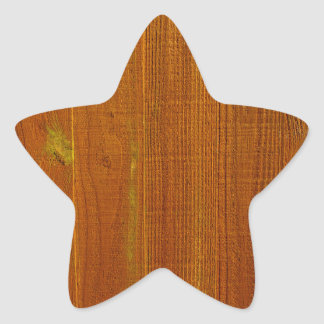 Wood Fence Panel Star Sticker
