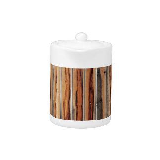 Wood Fence Texture Cool Unique Teapot