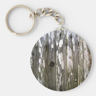 Wood Fence Texture Photography Keychain