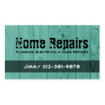 Wood Fence Turquoise Business Card