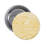 Wood Finish Pinback Button