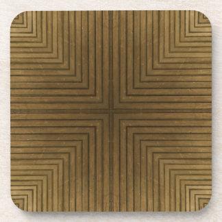Wood Flooring Kaleidoscope Cork Coaster