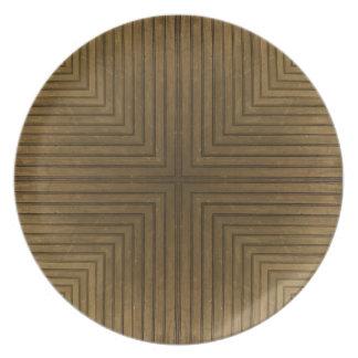 Wood Flooring Kaleidoscope Plate