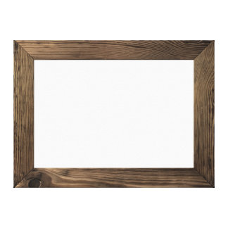 Wood Frame Isolated Inside Canvas Print