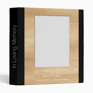 Wood Frame Template Funeral GuestBook Add Image Binder
