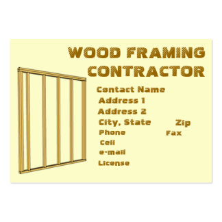 WOOD FRAMING CONTRACTOR BUSINESS CARD