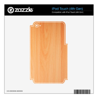 Wood Furniture Natural Brown Texture Style Fashion Decal For iPod Touch 4G