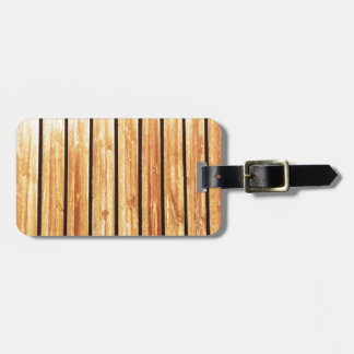 Wood Furniture Natural Brown Texture Style Fashion Luggage Tag