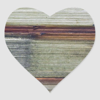 Wood Furniture Natural Brown Texture Style Fashion Heart Sticker