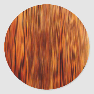 Wood Furniture Natural Brown Texture Style Fashion Classic Round Sticker