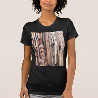 Wood Furniture Natural Brown Texture Style Fashion T-shirt