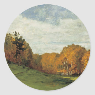 Wood Gatherers at the Edge of the Forest Classic Round Sticker