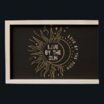 "Wood gift box live by the sun love by the moon<br><div class=""desc"">Large gift box with the quote &quot;live by the sun love by the moon.&quot;</div>"