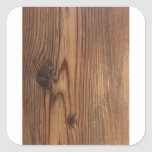Wood Gift Wral Square Sticker