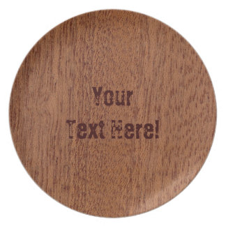 Wood Grain#1 Melamine Plate