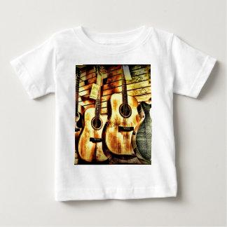 Wood Grain Acoustic Guitars Baby T-Shirt