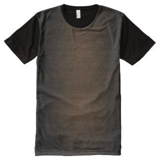 Wood Grain All-Over-Print Shirt